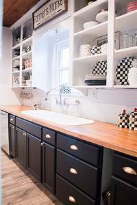 Black, And, White, Industrial, Glam, Farmhouse, Kitchen