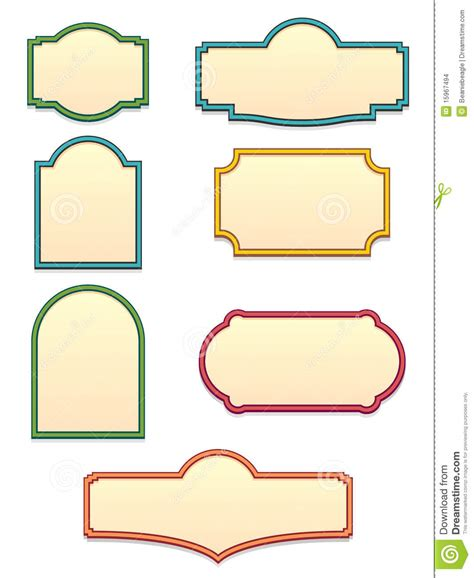 sign templates vector sign shapes clip cliparts