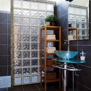 mur en verre pour salle de bain cobtsacom With mur de verre salle de bain