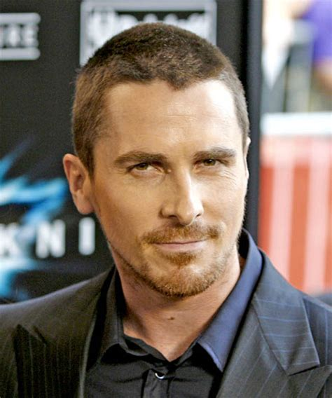 christian bale casual short straight hairstyle