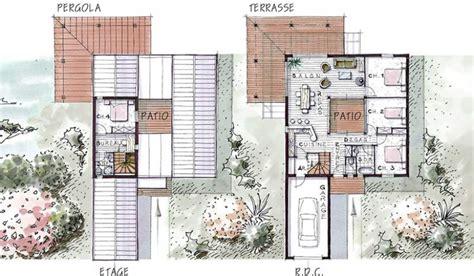 plan maison 4 chambre maison ossature bois à étage 115 m 4 chambres