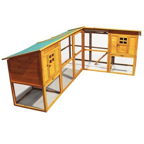 cage angulaire en bois pour petits rongeurs clapier lapin avec aire de jeux ebay