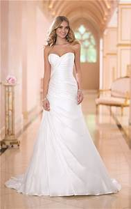 simple fitted mermaid sweetheart ruched satin corset With simple fitted wedding dresses
