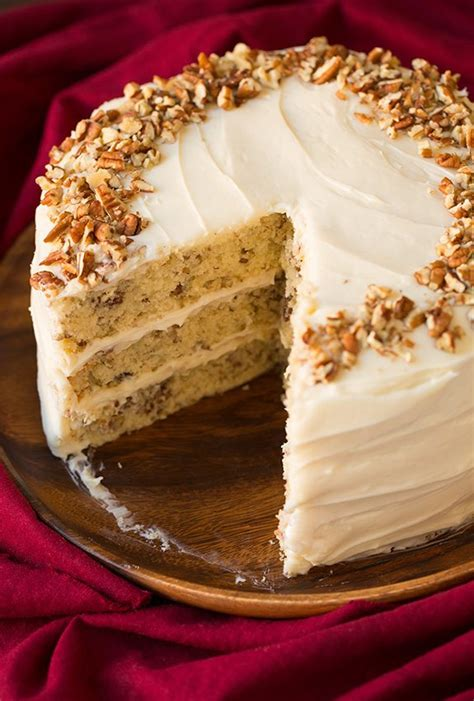 butter pecan cake  cream cheese frosting cooking