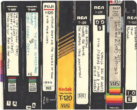 tribute   vhs tapes     drawings