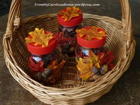 autumn themed mason jar table centerpieces favecraftscom