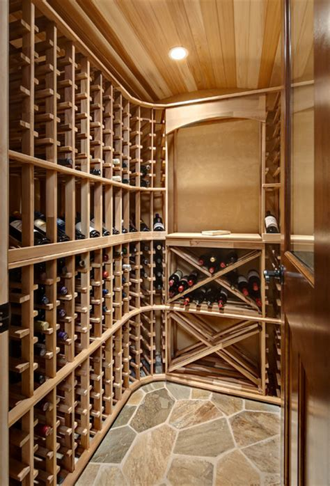 Minnetrista Basement  Traditional  Wine Cellar