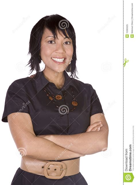 cute woman   arms crossed royalty  stock photo