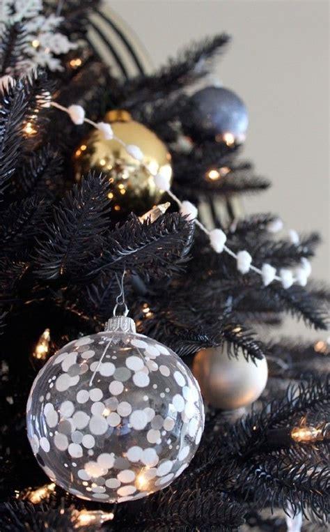 gorgeous black christmas tree decoration ideas christmas