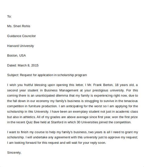 sample application letter format   documents