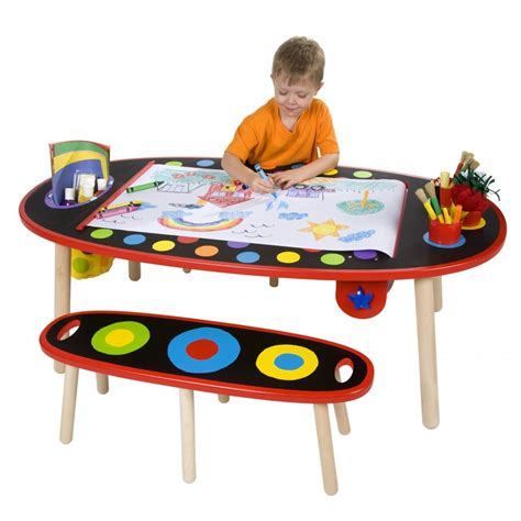 Crayola Creativity Wooden Table And Chair Set by Alex Toys Artist Studio Table With Paper Roll