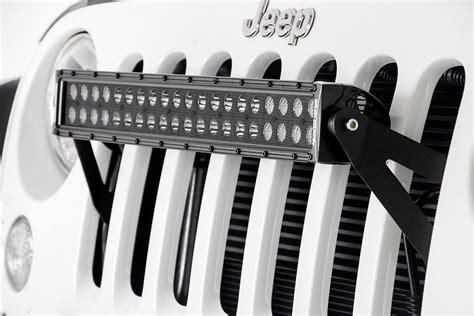 jeep light bar grill 20in led light bar grille kit for 2007 2018 jeep wrangler