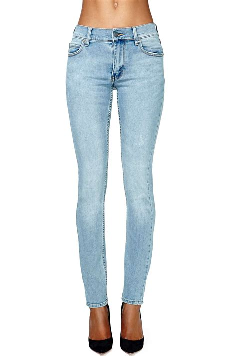 cheap light blue skinny jeans nasty gal cheap monday tight skinny jeans light wash in