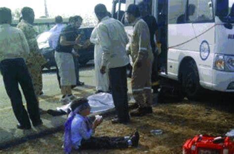 pall  gloom  jubail  road tragedy arab news