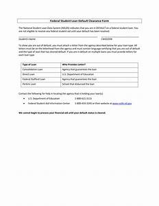 14 student clearance forms free word pdf format download With mortgage default letter template
