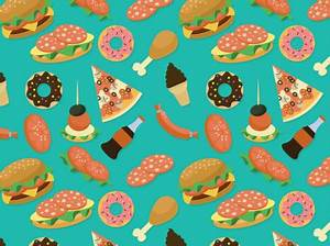 Fast food seamless vector background | Free Vector ...