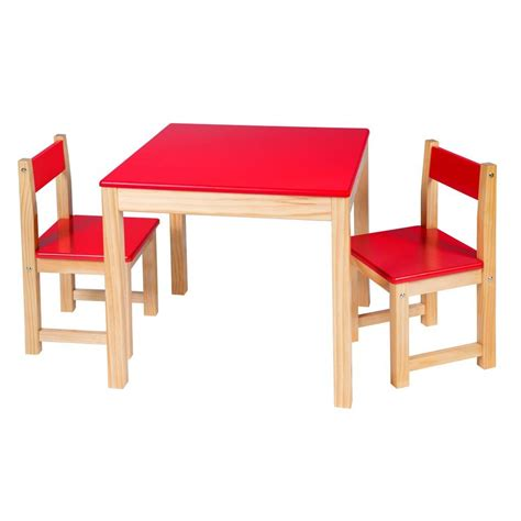 Wooden Table And Chair Set Red  Easels & Tables By Alex Toys