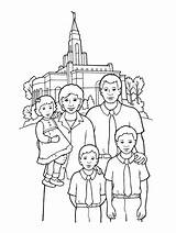 Temple Coloring Lds Pages Primary Happy Temples Church Families Drawing Going Gospel Printable Standing Clipart Sealing Illustration Synagogue Activities Royalty sketch template
