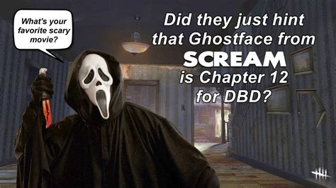 Dead By Daylight| Ghostface From Scream For Chapter 12 Dlc