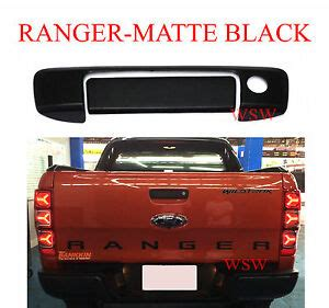 matte black keyhole tailgate handle cover for ford ranger wildtrak px t6 2012 16 ebay