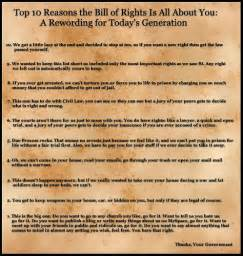 First 10 Amendments Bill Rights