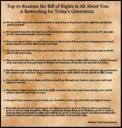 First 10 Amendments Bill Rights