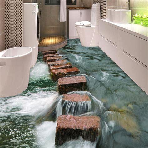 3d fußboden bilder foto personalizada piso 3d papel de parede de arte moderna do pedras ch 227 o do banheiro mural