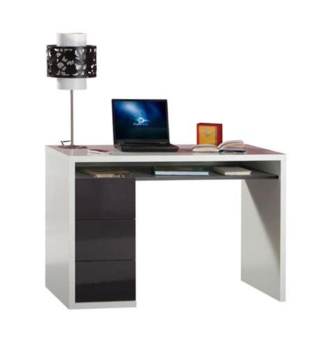 bureau blanc et gris bureau 3 tiroirs moneta blanc gris