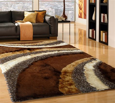 Brown Shag Area Rug by Brown Carved Design Shag Area Rug Rug Addiction