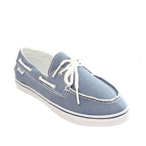 Red Vans Boat Shoes by Womens Vans Zapato Twill Blue Boat Deck Canvas Ladies