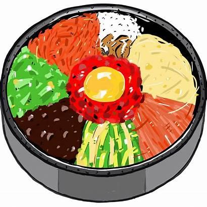 Fish Rice Clipart Clip Korean Bibimbap Bowl