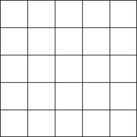 Blank Grid Paper 5 Squares  Math Forum Alejandre  Magic Square 5x5 Grid  Preschool Math