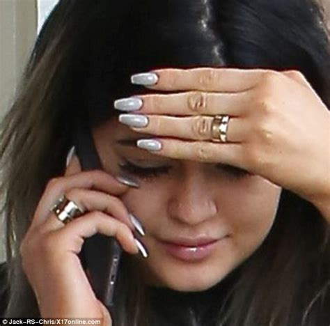 Light Grey Sweatpants by Kylie Jenner Wears Curious Bauble On That Finger While
