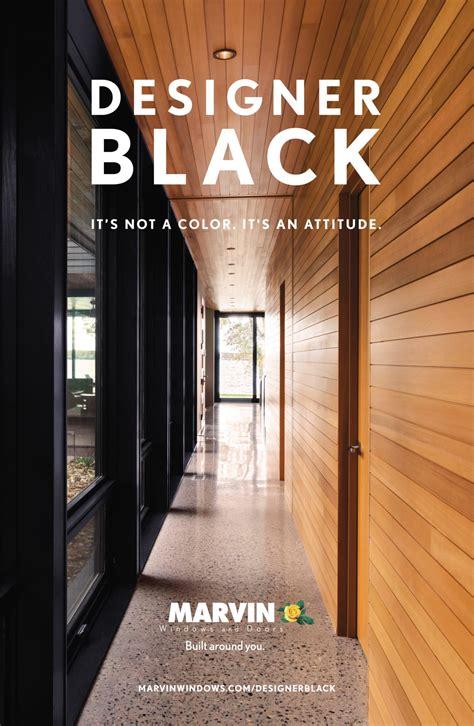 marvin designer black interior finish  windows doors