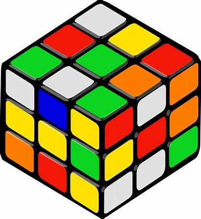 Random Cube Clip Rubik Clipart Svg Clker