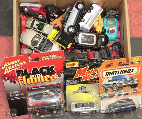 small toy cars box of small toy cars
