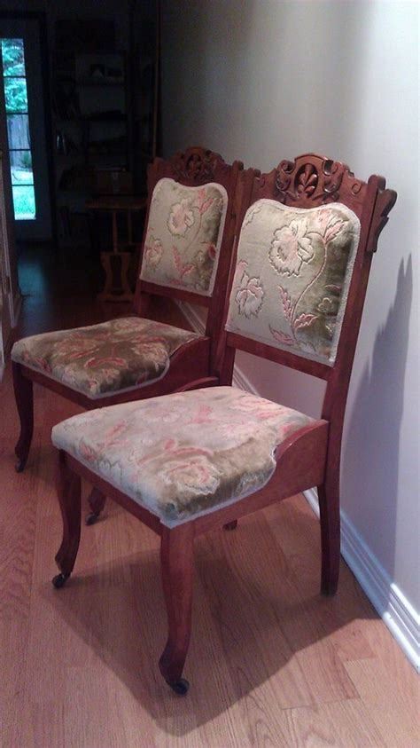 wood dining chairs  wood casters   front