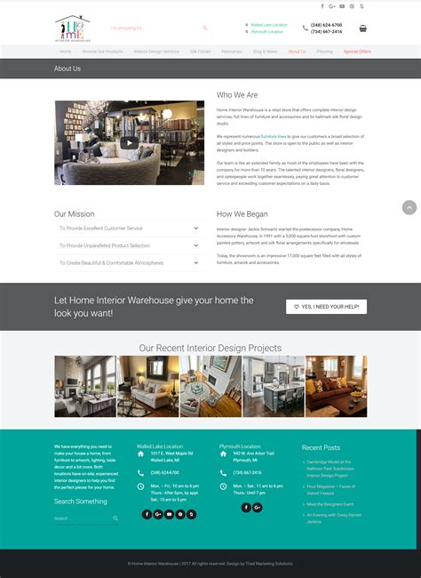 Home Interior Warehouse by Home Interior Warehouse Website Triad Marketing Solutions