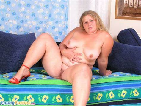 Giant Boobed Fatty Stuffed In The Couch Slim Curly Baby Receives Underboobs And Showing Her Pink Boob