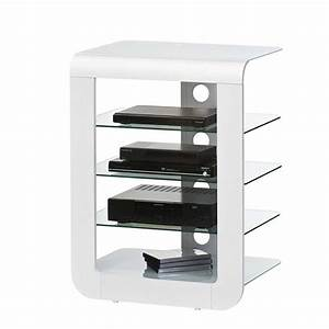 Tv Hifi Rack : hifi rack colonia in wei hochglanz glas ~ Michelbontemps.com Haus und Dekorationen