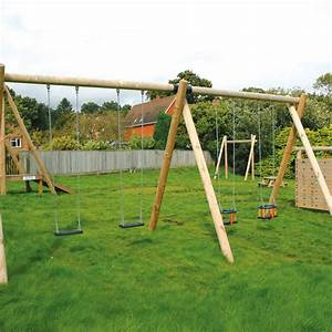 Double Bay Swing | Traditional Playground Equipment