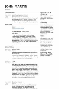 Resume kfc example resume ixiplay free resume samples for Sample resume for kitchen staff