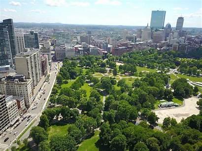 Boston Common Aerial Commons Wikipedia Parque Ciudad
