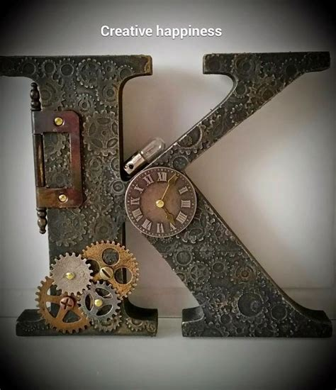 creative happiness steampunk letters tim holtz