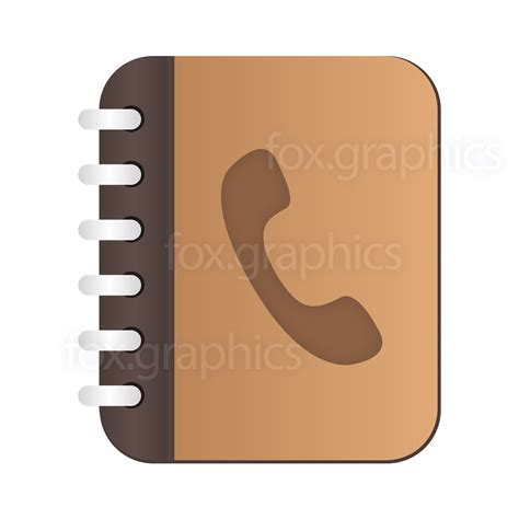phone book vector phone book icon fox graphics