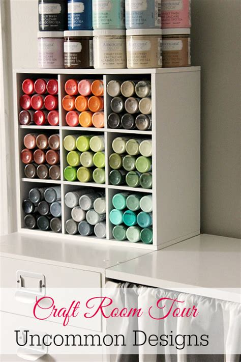 craft room storage solutions craft room tour crafting acrylics and craft paint