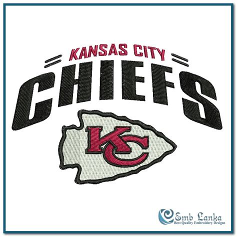 graphic design kansas city kansas city chiefs logo 2 embroidery design emblanka