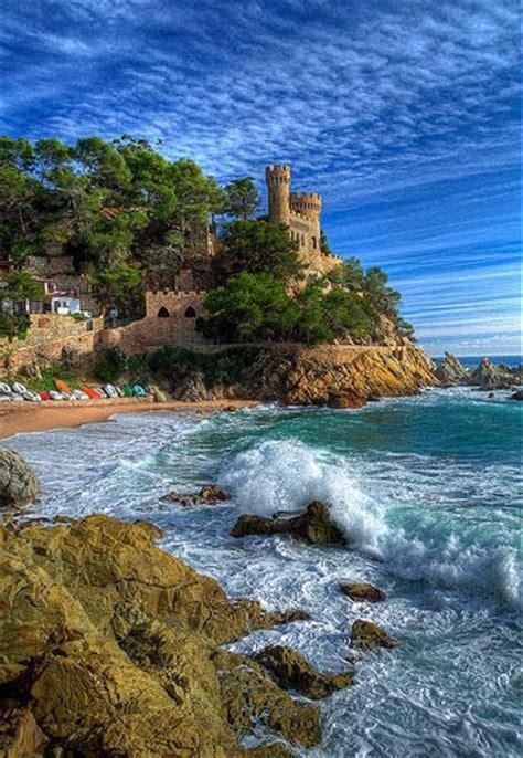 tossa de mar castle costa brava spain photo  sunsurfer