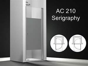 Paroi de douche longueur 80 porte de douche pivotante for Porte douche 80x180