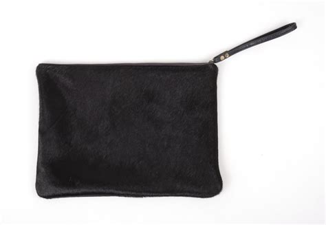 Black Cowhide Clutch 9 X 13